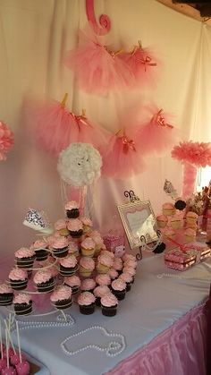 Pink Tutu and Pearls baby shower decoration.  #carmelasbbshower was a success!!