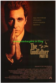al pacino movie posters | Godfather III Movie Poster Al Pacino 1 Sided Original