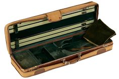 """AN ENGLISH VIOLIN CASE BY W. E. HILL & SONS Stamped, """"W. E. Hill & Sons, London, England."""""""