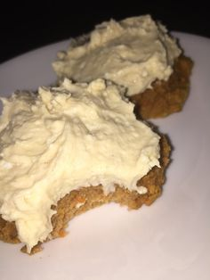 Protein Carrot Cake Cookies Cookie Ingredients:  1 Scoop minus 2 tbsp PEScience Snickerdoodle Protein Powder (the 2 tbsp removed will be used in the icing so set aside) 1 tb…