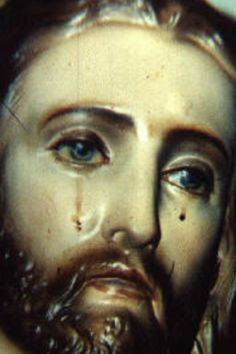 Crying statue of Jesus