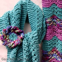Spring Lace Scarf and Corsage Knitting Pattern