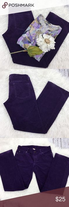 """💕SALE💕 J.Crew Favorite Fit Purple Cords Awesome J.Crew Favorite Fit Purple Cords 32"""" Inseam 8 """" Rise 98% Cotton 2% Spandex         16 1/2"""" laying flat across the waist J. Crew Pants"""