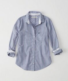 Striped Oxford Shirt - Blue and Pink stripe