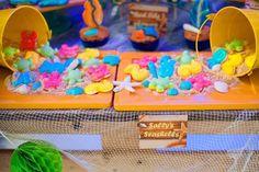 Gummy sea creatures