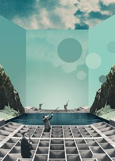 Artworks 2013 by Julien Pacaud, via Behance