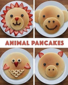 good-looking pancakes are the perfect breakfast for all ages - Essen für kinder - Perfect Breakfast, Breakfast For Kids, Breakfast Ideas, Brunch Ideas, Pancake Designs, Food Art For Kids, Food Carving, Sugar Cookie Dough, Apple Smoothies