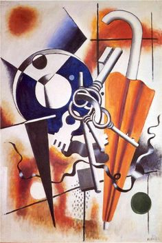 The Composition with the umbrella - Fernand Leger, 1932
