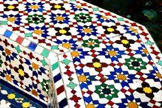 Moorish Tiles garden | Moroccan tile