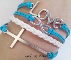 Personality infinite love bracelet cross by Coolmybracelet on Etsy, $4.99