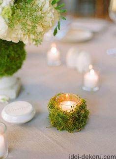 Picture of greenery spring wedding decor ideas youll love 1 Forest Wedding, Woodland Wedding, Rustic Wedding, Trendy Wedding, Outdoor Wedding Centerpieces, Wedding Decorations, Table Decorations, Centerpiece Ideas, Moss Wedding Decor