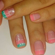 Uñas #unasdecoradas Love Nails, Pretty Nails, My Nails, Fingernails Painted, Shellac Nails, French Nails, Aqua Nails, Vacation Nails, Nail Decorations