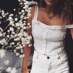 Fresh whites . #saboskirt #white #whiteaddicted #fashion #style #selfie #love #amazing #potd #me #tan #blonde #girl #happy #pretty…
