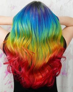 50 Stunning Rainbow Hair Color Styles Trending in 2019 multi colored hair ideas - Hair Color Ideas Dark Brown Hair With Blonde Highlights, Blond Ombre, Hair Color Highlights, Hair Color Balayage, Blonde Color, Ombre Hair, Blonde Brunette, Rainbow Highlights, Bright Hair Colors
