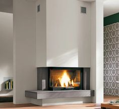 Fireplaces and stoves - Palazzetti Modern Fireplace Decor, Fireplace Art, Family Room Fireplace, Fireplace Remodel, Fireplace Design, Fireplaces, Home Interior Design, Interior Architecture, Snug Room