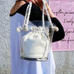 7755243e4d80 Women s Clear Bag The Transparent Market Bucket Tote Clear Bags