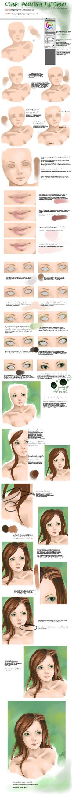 Corel Painter Tutorial by *Sariyu on deviantART