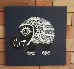 Boho Elephant Acrylic painting
