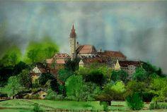 'Andechs Oberbayern' von Marie Luise Strohmenger bei artflakes.com als Poster oder Kunstdruck $19.41