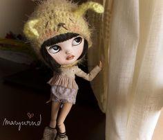 my melancholic Yuki #collectables #crafts #handmade #dolls #dollhouse #ooak #blythe