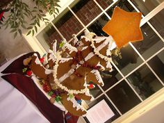 a 3 foot tall Ginger Bread Christmas Tree with a Giant Butterscotch Star - Christmas @ Willow Grove, Matthews NC 2009