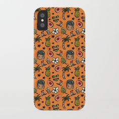 Hawaiian Dreaming - Orange iPhone Case by teacupsandspectacles Teacups, Hawaiian, Iphone Cases, Orange, I Phone Cases