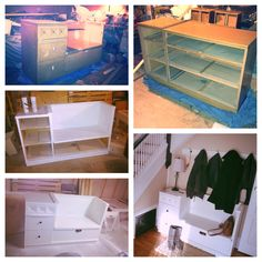DIY: Dresser turned into a bank. I have seen many of them here, and I … - Upcycled Furniture Thrifting Furniture Projects, Furniture Makeover, Home Projects, Repurposed Furniture, Cool Furniture, Diy Home Improvement, Home Hacks, Diy Table, Decoration