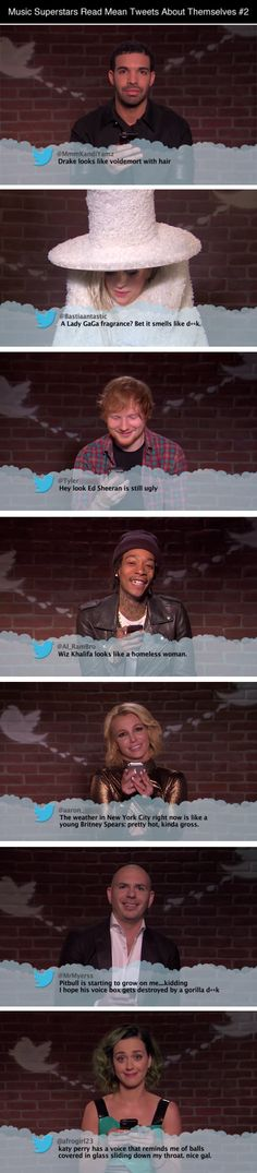Celebrities Read Mean Tweets About Themselves