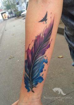 Die 105 Besten Bilder Von Feder Tattoos In 2019 Feather Tattoos