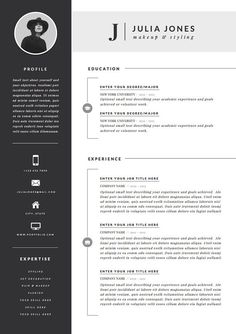 Resume Template / CV Template Cover Letter for di OddBitsStudio