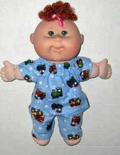Cabbage Patch Surprise Doll Lots of Trains Pajama by Dakocreations, $13.99