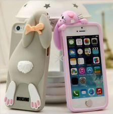 Nueva 3D lindo Volver Funda de silicona para iPhone 6 Plus Fundas Cubiertas