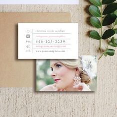 Wedding Photographer Business Cards - Customizable Business Card Design for Photoshop - PSD Photo Templates - INSTANT DOWNLOAD - c0012