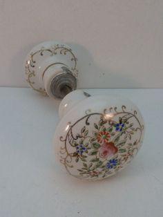 """Antique Porcelain Door Knobs 5 """"crack dresser handle ceramic door knob pull bail pulls handles"""