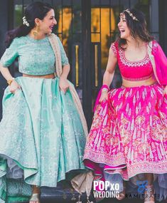 The colour inspiration for wedding Sister Wedding Pictures, Bridesmaid Pictures, Bride Poses, Wedding Poses, Ethnic Outfits, Indian Outfits, Sister Poses, Sister Photography, Indian Bridesmaids