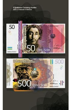 50 and 500 Uzbekistani Som notes.