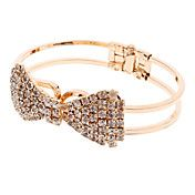 Full Diamond Bow Gold Simple Spring Openings ... – USD $ 4.99