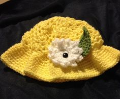 Bright Yellow Summer Hat by PapyrRags on Etsy