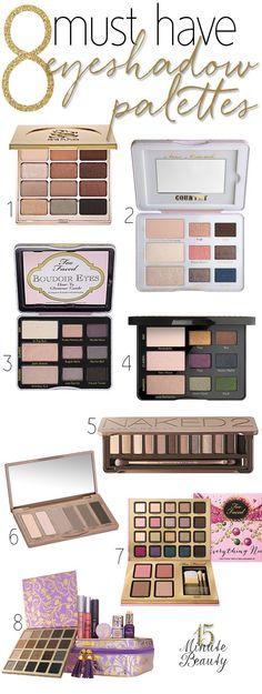 Must Have #Makeup Palettes via http://15MinuteBeauty.com