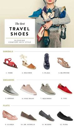 the best travel shoes for women, comfortable stylish walking shoes for travel, travel packing, travel checklist, packing for vacation, vacation outfits, best shoes for travel, best flats for walking, cute flats, cute sandals, spring sandals, spring outfits, spring break travel, sandals for travel, comfortable flats, comfortable sandals, sneakers for travel,: