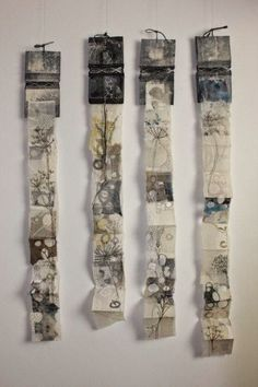 magpie of the mind Cas Holmes: Lace Lines - Lace Flowers unfolding forms… Concertina Book, Accordion Book, Cas Holmes, Tea Bag Art, A Level Art, Handmade Books, Book Making, Lace Making, Textile Artists