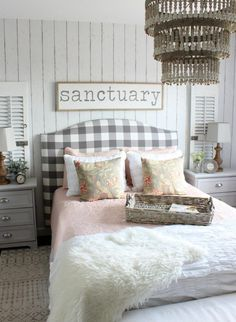 2017 Summer Home - Cottage Style Bedroom - Pink and Gray