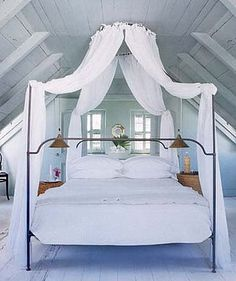 Love canopy beds, just not right in the middle of a room (well, my current place is too small for that anyway)