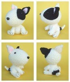 Bull Terrier Puppy PDF Crochet Pattern por jaravee en Etsy