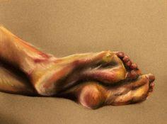Original Feet Drawing- Chalk Pastel EmilyRyan, Philadelphia