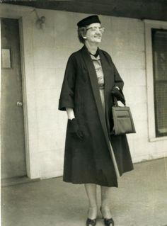 Addie Barfield Paschall, Bridgeport, Texas, 1958