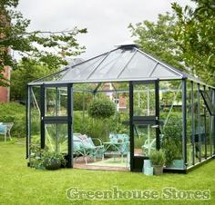 NEW - Juliana Oasis 12x12 Greenhouse for sale at Greenhouse Stores. https://www.greenhousestores.co.uk/Palram-Plastic-Skylight-Sheds/