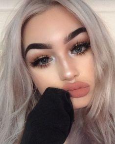beauty, eyebrows, and makeup image