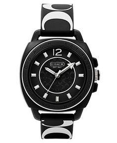 COACH BOYFRIEND SILICON RUBBER STRAP WATCH - Coach Watches - Handbags & Accessories - Macy's