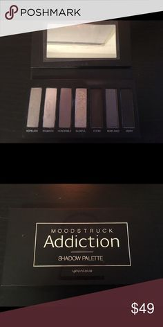 Moodstruck Addiction Shadow Palette 2 by Younique Multitalented Palette of eye shadows in velvety smooth matte, semi-matte, pearly satin and metallic sheen. Youniquie Makeup Eyeshadow